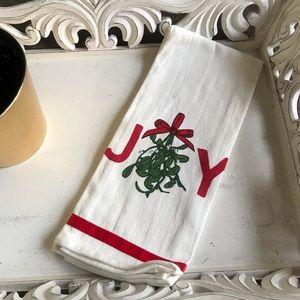 Other - NWOT Joy Holiday Mistletoe Dishtowel - Free w any